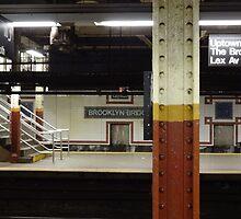 Brooklyn Bridge Subway NYC by Amber Elen-Forbat