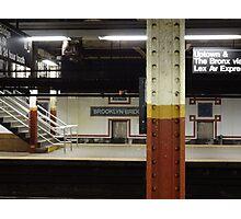 Brooklyn Bridge Subway NYC Photographic Print