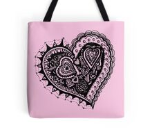 Valentine Heart 2 Angled Aussie Tangle by Heather Holland Tote Bag