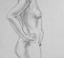 female nude.... pencil study #2 by Juilee  Pryor