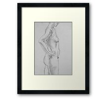 female nude.... pencil study #2 Framed Print
