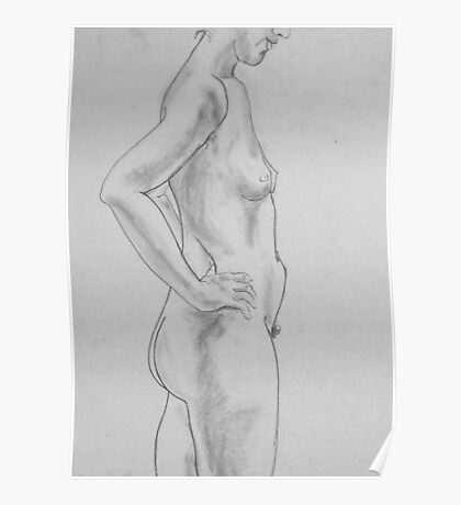 female nude.... pencil study #2 Poster