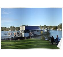 Road Haulage Truck Crossing the Murray River by Ferry. Mannum. Poster