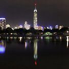 Surfers Paradise - Night Time Panorama by satyrphotoworks