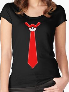 Pokeball Tie Tee Women's Fitted Scoop T-Shirt