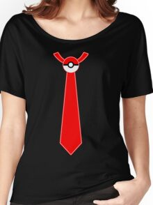 Pokeball Tie Tee Women's Relaxed Fit T-Shirt