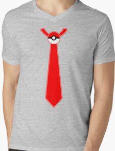 Pokeball Tie Tee Mens V-Neck T-Shirt