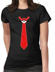Pokeball Tie Tee Womens Fitted T-Shirt