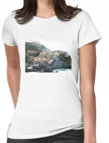One of the villages of the Cinque Terre, Italia Womens Fitted T-Shirt