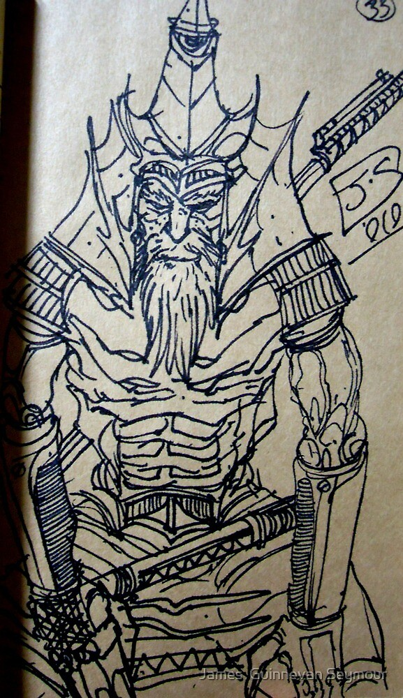 samurai sketch  by James  Guinnevan Seymour