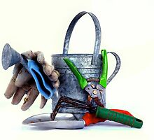 Garden tools high key by Jeffrey  Sinnock