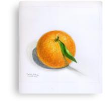 Navel Orange with Leaf Canvas Print