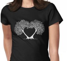 love trees B/W Womens Fitted T-Shirt