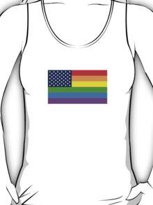 Gay USA Rainbow Flag - American LGBT Stars and Stripes T-Shirt