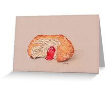 Jam Doughnut, gooey gorgeousness Greeting Card