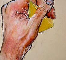 Study: Hand Grasping a Pyramid by seanh
