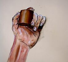 Study: Hand Grasping a Cylinder by seanh