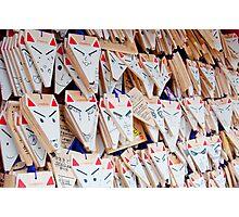 Kitsune Ema's at Fushimi Inari-taisha Photographic Print