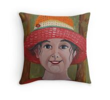 Elsa with Hat Throw Pillow