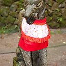 Fox guardian at Fushimi Inari Shrine by F.M. Gore-Kelly