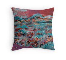 Mountainous Terrain Throw Pillow