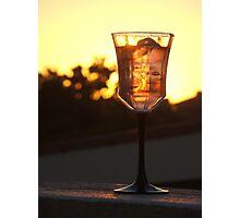 """""""G"""" Glass of Sundowner Photographic Print"""