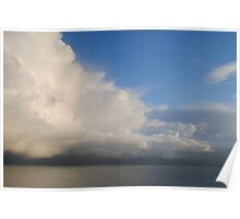 Cloud Formation Above the Channel Poster