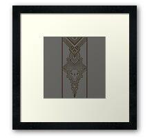 Gray pattern with ornamental design Framed Print