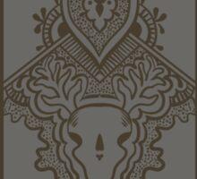 Gray pattern with ornamental design Sticker