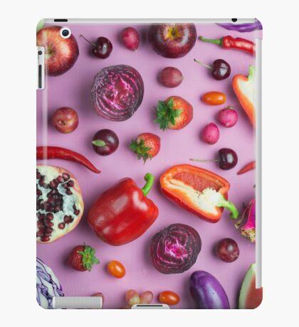 Red food on pink iPad Case/Skin