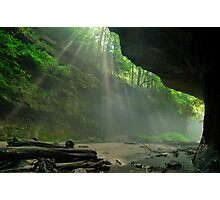 Rock & Light - Rocky Hollow at Turkey Run State Park Photographic Print