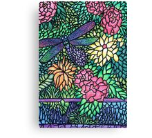 Tiffany Glass on Paper Canvas Print