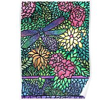 Tiffany Glass on Paper Poster