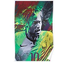 Neymar Illustration Poster