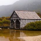 dove lake boatshed - cradle mountain by col hellmuth