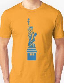 The Statue of Liberty, New York, America, Silhouette Unisex T-Shirt