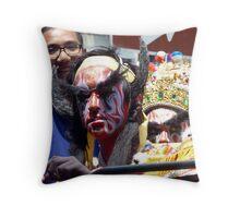 Facepaint Throw Pillow