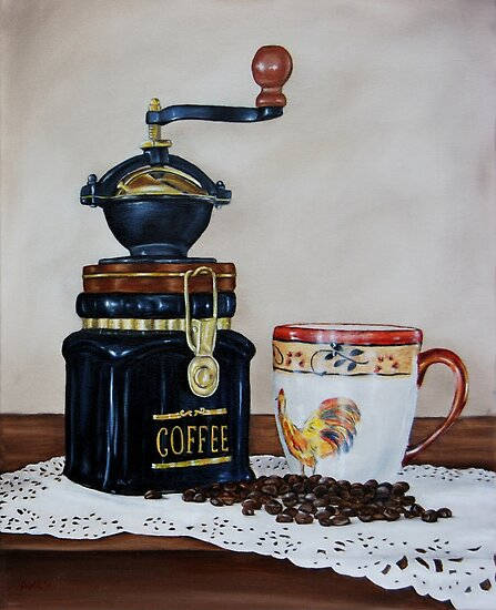 """""""Coffee Time"""" - Oil painting by Avril Brand"""