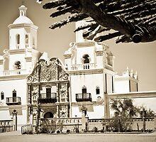 Mission San Xavier del Bac - Print by Mark Podger