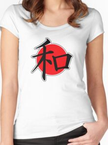 Peace Japanese Kanji Women's Fitted Scoop T-Shirt