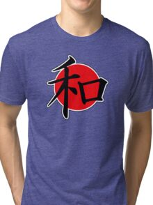 Peace Japanese Kanji Tri-blend T-Shirt