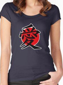 Love Japanese Kanji Women's Fitted Scoop T-Shirt