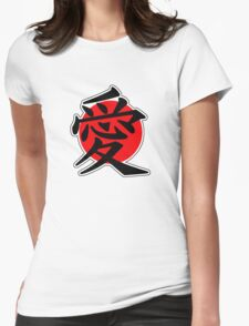 Love Japanese Kanji Womens Fitted T-Shirt