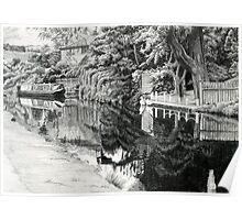 Moored Narrow Boat Poster