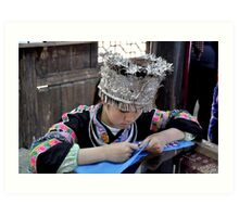 embroid girl of Miao nationality Art Print