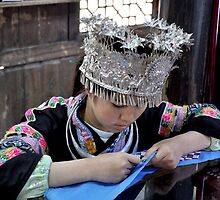 embroid girl of Miao nationality by nicolaMY