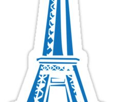 The Eiffel Tower, Paris, Silhouette Sticker