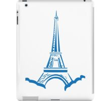 The Eiffel Tower, Paris, Silhouette iPad Case/Skin