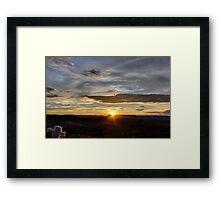 Hello SunSet! Framed Print