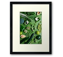 Greed raw food Framed Print